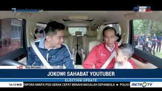 Jokowi <i>Nge-vlog</i> Bareng Boy William