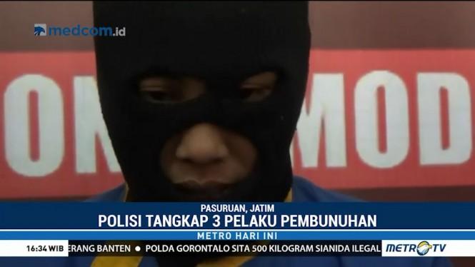 Polisi Tangkap 3 Pelaku Pembunuhan Sadis di Pasuruan