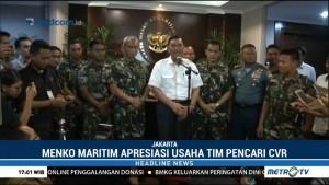Menko Maritim Apresiasi Usaha Tim Pencari CVR Lion Air PK-LQP