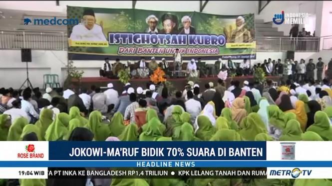 Jokowi-Ma'ruf Bidik 70% Suara di Banten