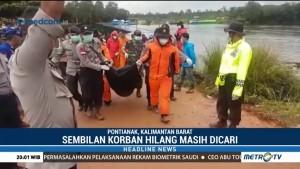 Tim SAR Evakuasi Tiga Korban Kapal Tenggelam di Kalbar
