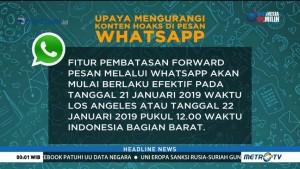 Cegah Hoaks, Whatsapp akan Batasi Forward Pesan