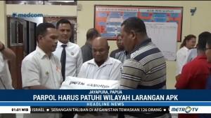 Jelang Pemilu, KPU Papua Serahkan Alat Peraga Kampanye