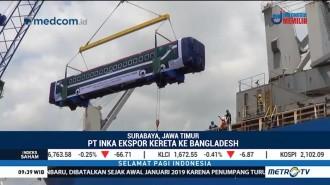 PT INKA Ekspor 15 Gerbong Kereta ke Bangladesh