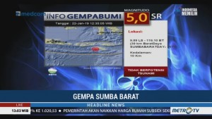 Sumba Barat Diguncang 12 Gempa Susulan