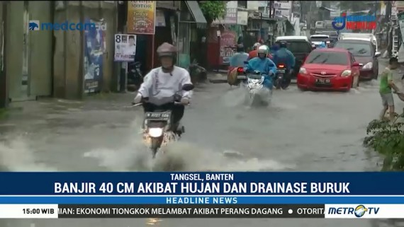 Jalan Ceger Raya Tergenang Banjir