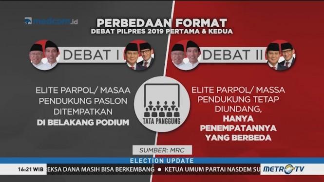 KPU: Debat Kedua akan Digelar Lebih Rileks