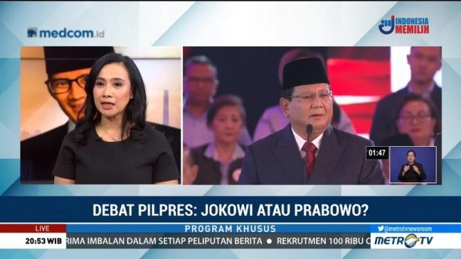 Prabowo Joget saat Debat Masih Jadi Trending Topic di Medsos