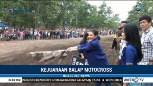 Caleg NasDem Gelar Balapan Motorcross di Bangka