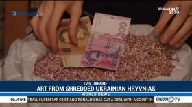 Art from Shredded Ukrainian Hryvnias
