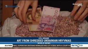 Art from Shredded Ukrainian Hryvnias