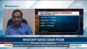 Cegah Hoaks, WhatsApp Batasi Fitur Pesan Terusan