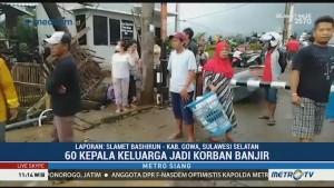 Warga Gowa Mulai Bersihkan Lumpur Sisa Banjir