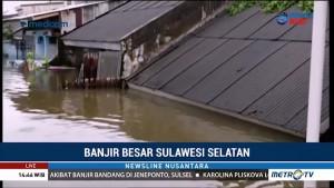 Ketinggian Banjir di Perumnas Antang Makassar Capai 3 Meter