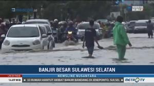 Banjir di Makassar Picu Kemacetan Lalu Lintas