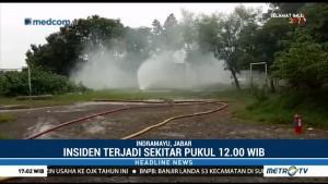 Sumur Gas di Indramayu Meledak