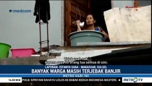 Kondisi Warga yang Terjebak Banjir di Makassar