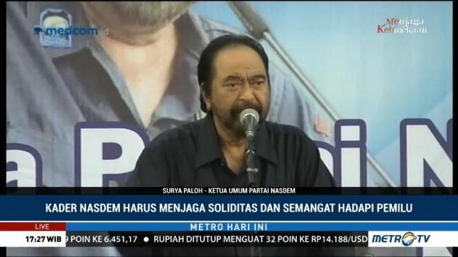 Surya Paloh Minta Kader NasDem Menangkan Jokowi-Ma'ruf