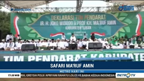 Ma'ruf Amin Hadiri Konsolidasi Relawan se-Tuban dan Bojonegoro