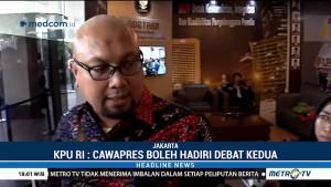 KPU Persilakan Cawapres Hadiri Debat Kedua
