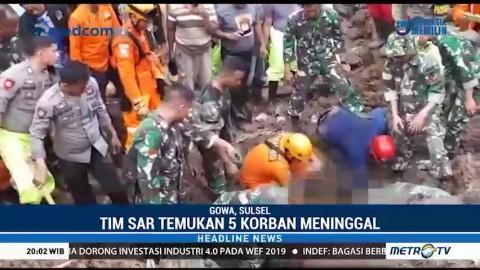 Tim SAR Temukan 5 Korban Banjir Sulsel