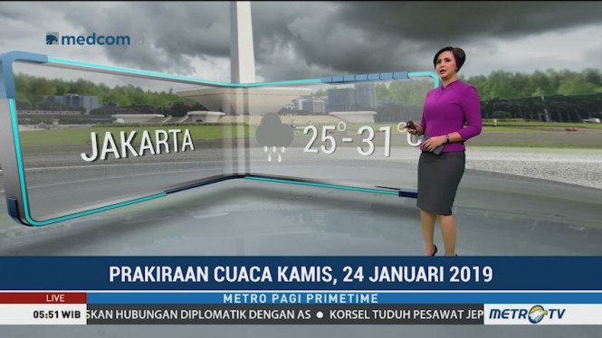 Prakiraan Cuaca Hari Ini, Waspada Hujan di Sebagian Wilayah