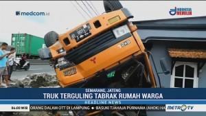 Dua Orang Terluka Akibat Kecelakaan Truk di Semarang