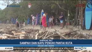 Pantai Kuta Dipenuhi Sampah Kiriman