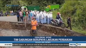 Jalan Penghubung Pekalongan-Banjarnegara-Wonosobo Ambles
