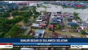 Banjir di Maros, Makassar dan Gowa Berangsur Surut