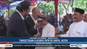 Surya Paloh Hadiri Peresmian Sekber Pemenangan Jokowi-Ma'ruf di Aceh