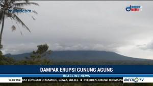 Abu Vulkanik Gunung Agung Hujani Karangasem