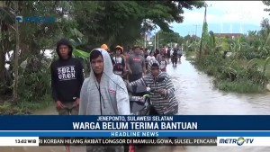 Korban Banjir di Jeneponto Belum Dapat Bantuan