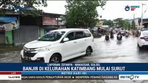 Banjir di Kelurahan Katimbang Makassar Mulai Surut