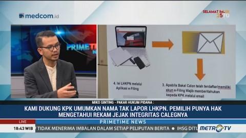 KPK Diminta Umumkan Nama Caleg yang Tak Lapor LHKPN