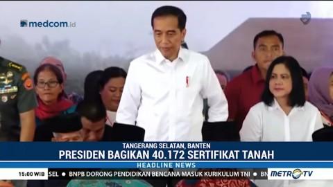 Jokowi Bagikan 40.172 Sertifikat Tanah ke Warga Tangsel