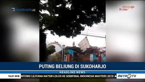 Detik-Detik Angin Puting Beliung Terjang Sukoharjo