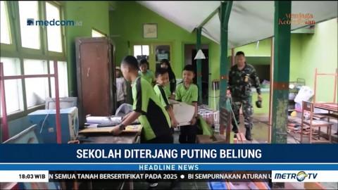 Sekolah Diterjang Puting Beliung, Pelajar Terpaksa Belajar di Musala