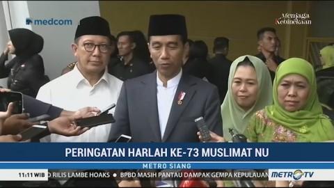 Jokowi Apresiasi saat Muslimat NU Deklarasi Anti Hoaks