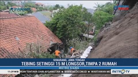 Tebing Setinggi 15 Meter di Semarang Longsor