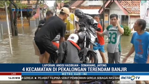 Banjir Rendam Empat Kecamatan di Pekalongan