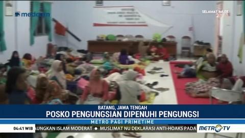 Korban Banjir di Kabupaten Batang Masih Mengungsi