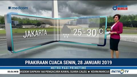 Prakiraan Cuaca: Senin, 28 Januari 2019