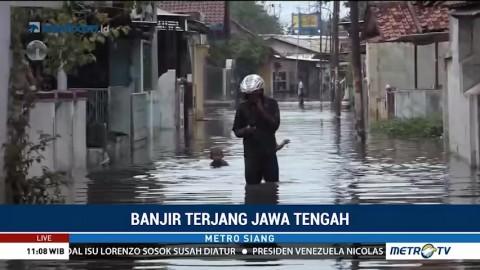 Ketinggian Banjir di Pekalongan Capai 1 Meter