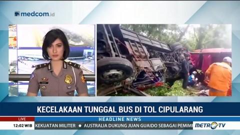 Kecelakaan Bus di KM 70 Tol Cipularang, 4 Orang Tewas