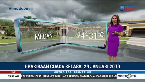 Prakiraan Cuaca: Selasa, 29 Januari 2019