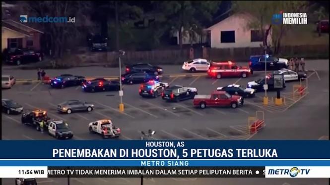 5 Polisi Terluka Akibat Penembakan di Houston