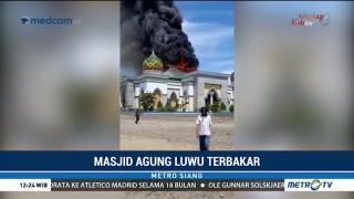 Masjid Agung Luwu Terbakar