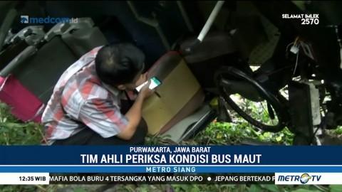 Tim Ahli Periksa Penyebab Kecelakaan Bus Maut di Tol Cipularang