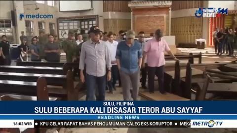 Pascateror, Presiden Filipina Kunjungi TKP Bom di Gereja Katedral